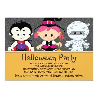Invitación de fiesta de Halloween para niños
