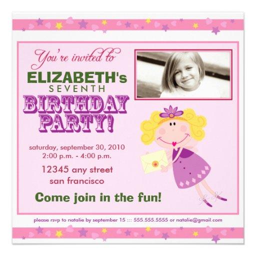 Invitación de hadas de lujo de la fiesta de cumple