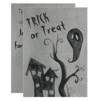 Invitación de Halloween de la acuarela del