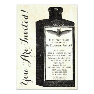 Invitación de Halloween de la botella de la poción