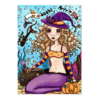 Invitación de Halloween de la sirena Invitación 12,7 X 17,8 Cm