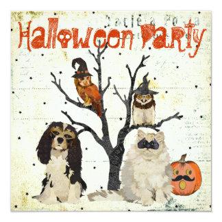 Invitación de Halloween de los animales de la
