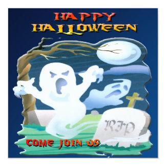 Invitación de Halloween de los fantasmas del