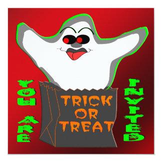 Invitación de Halloween del fantasma de la