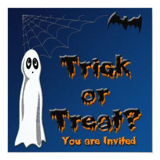 Invitación de Halloween del fantasma y del palo