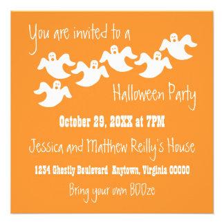 Invitación de Halloween del fiesta del fantasma, n