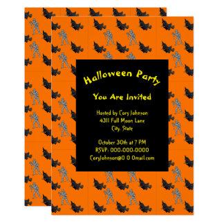 Invitación de Halloween del modelo de la bruja y
