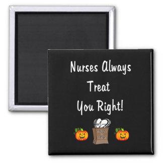 Invitación de Halloween para las enfermeras Imán Cuadrado