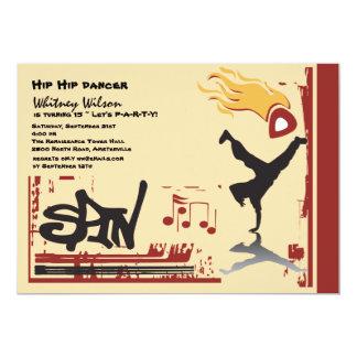 Invitación de Hip Hop