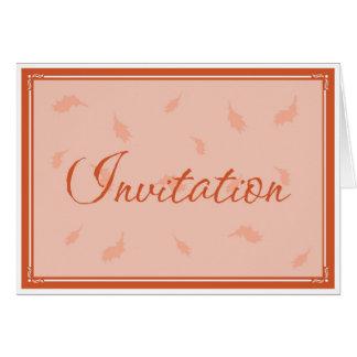 Invitación de la acción de gracias - 2 tarjeta de felicitación