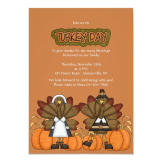 Invitación de la acción de gracias del día de