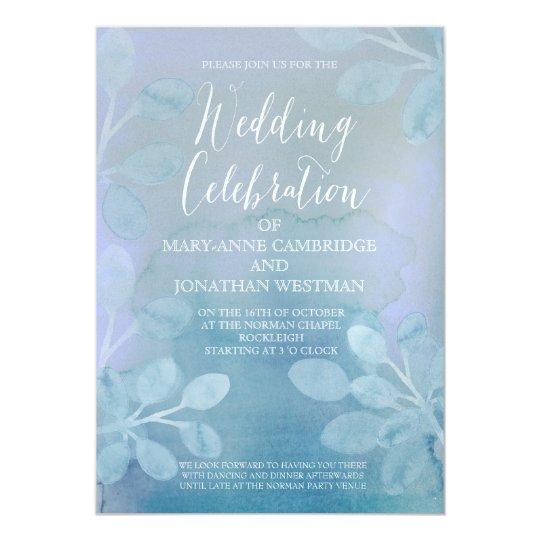 Invitación de la acuarela del boda del invierno