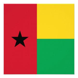 Invitación de la bandera de Guinea-Bissau