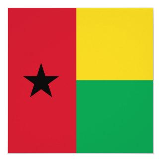 Invitación de la bandera de Guinea-Bissau Invitación 13,3 Cm X 13,3cm