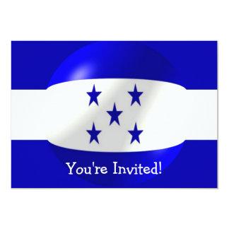 Invitación de la bandera de Honduras para Invitación 12,7 X 17,8 Cm