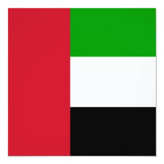 Invitación de la bandera de United Arab Emirates Invitación 13,3 Cm X 13,3cm