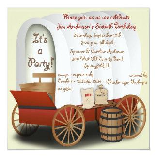 Invitación de la barbacoa del carro cubierto invitación 13,3 cm x 13,3cm
