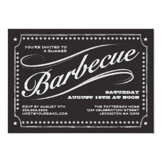 Invitación de la barbacoa del verano de la pizarra invitación 12,7 x 17,8 cm