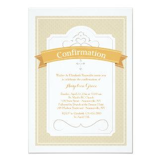 Invitación de la bendición de la confirmación