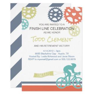 Invitación de la bici del camino del ciclista