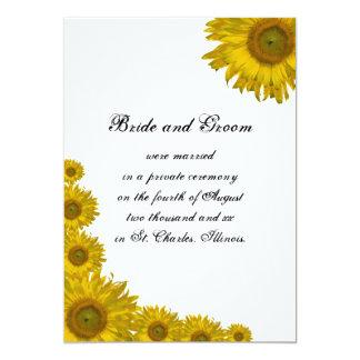 Invitación de la boda del borde del girasol