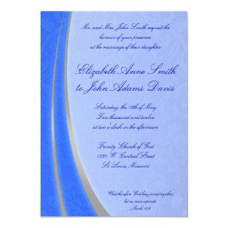 Invitación de la bodas de plata azul y