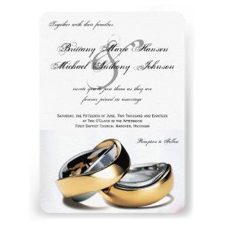 Invitación de la bodas de plata de los anillos de