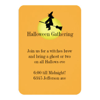 Invitación de la bruja de Halloween