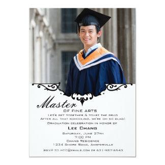 Invitación de la capa de la foto de la graduación