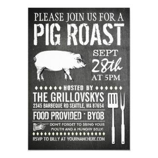 Invitación de la carne asada del cerdo de la