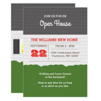 Invitación de la casa abierta de la fachada de la