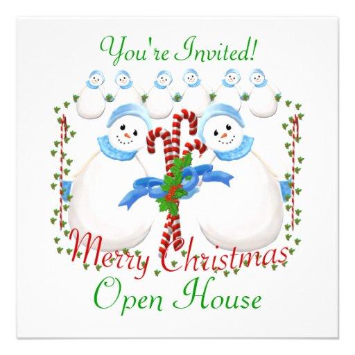 Invitación de la casa abierta del navidad