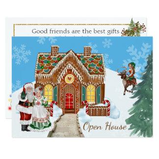 Invitación de la casa abierta del navidad con