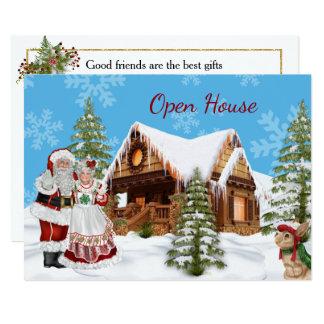 Invitación de la casa abierta del navidad con Papá