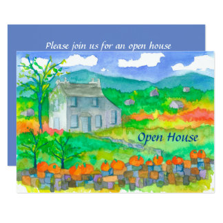 Invitación de la casa abierta del otoño de la