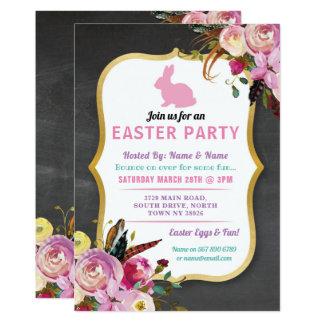Invitación de la caza del huevo del fiesta de