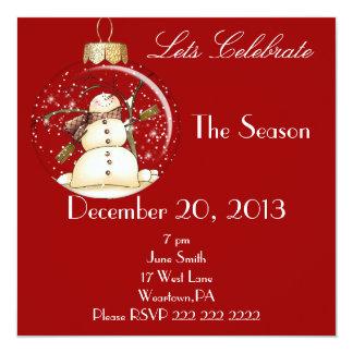 Invitación de la celebración de días festivos del