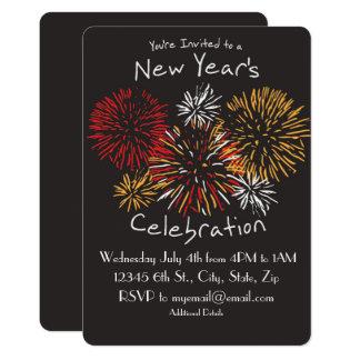Invitación de la celebración del Año Nuevo