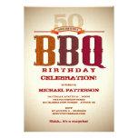 Invitación de la celebración del Bbq del cumpleaño