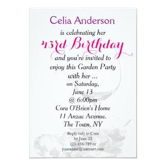 Invitación de la celebración del cumpleaños de la