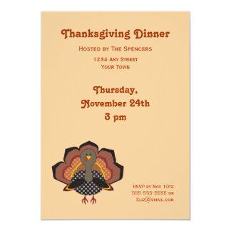 Invitación de la cena de la acción de gracias