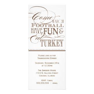 Invitación de la cena de la acción de gracias de l
