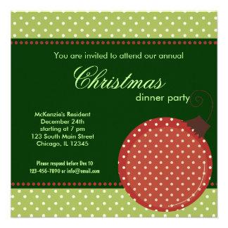Invitación de la cena de navidad de los puntos