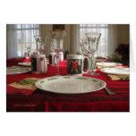 Invitación de la cena de navidad felicitacion