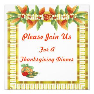 Invitación de la cena del día de la acción de grac