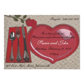 Invitación de la cena del el día de San Valentín