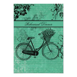 Invitación de la cena del ensayo de la bicicleta