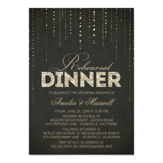 Invitación de la cena del ensayo de la mirada del invitación 12,7 x 17,8 cm