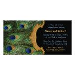 Invitación de la cena del ensayo de la pluma del tarjeta fotografica personalizada