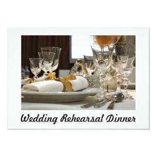 Invitación de la cena del ensayo del boda